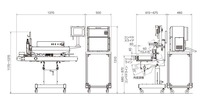 RK190外形寸法図