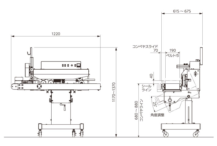 R190外形寸法図